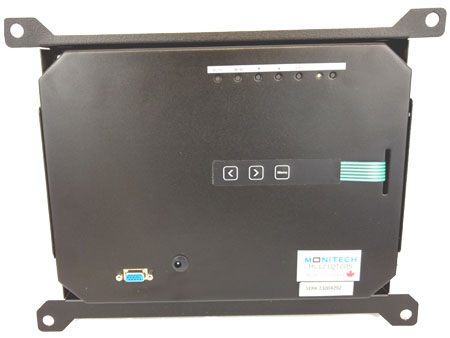 Monitech 12 inch LCD back view